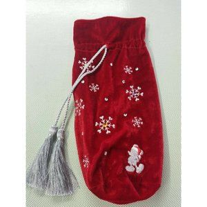 "Disney Gift Bag Uomo 16 x 7 "" red Velour"
